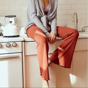 NWT Urban Outfitters Ribbed Flare Pant